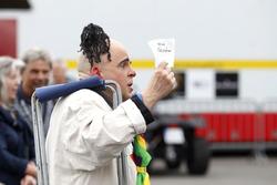A clown is waiting of Mattias Ekström, Audi Sport Team Abt Sportsline, Audi A5 DTM