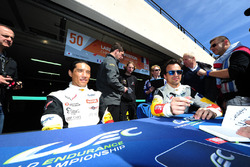 #50 Larbre Competition Corvette C7.R: Paolo Ruberti, Yutaka Yamagishi, Pierre Ragues sign autographs for the fans