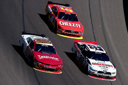 Chase Elliott, JR Motorsports Chevrolet; Brad Keselowski, Team Penske Ford; Darrell Wallace Jr., Roush Fenway Racing Ford