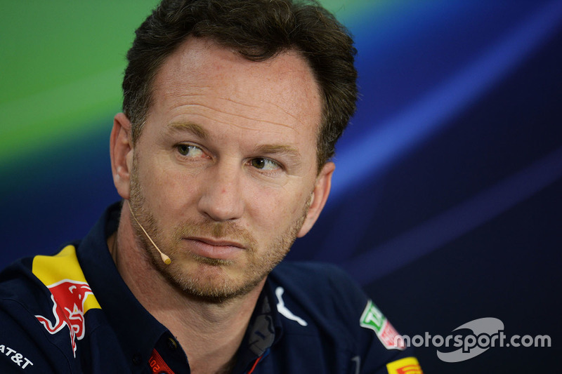 Christian Horner, Red Bull Racing Team Principal in the press conference
