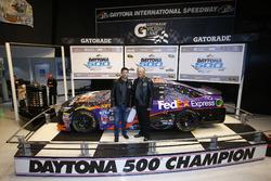 Denny Hamlin, Joe Gibbs Racing Toyota with Joe Gibbs
