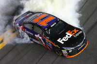 NASCAR Sprint Cup Photos - Race winner Denny Hamlin, Joe Gibbs Racing Toyota