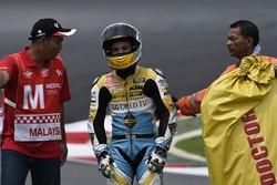 Juanfran Guevara, RBA Racing Team after his crash