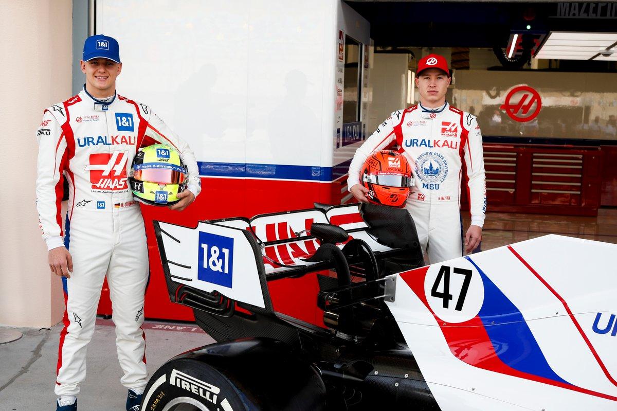 Mick Schumacher, Haas F1 et Nikita Mazepin, Haas F1