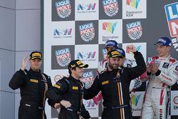 Podium: race winners Shane van Gisbergen, Alvaro Parente, Jonathon Webb, Tekno Autosports