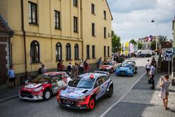 Daniel Sordo, Marc Marti, Hyundai i20 WRC, Hyundai Motorsport and Stéphane Lefebvre, Gabin Moreau, Citroën DS3 WRC, Abu Dhabi Total World Rally Team
