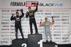 Podium: Race winner Fredric Aasbo, second place Chris Forsberg, third place Aurimas Bakchis