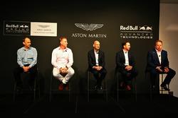 Andy Palmer, Chief Executive Officer Aston Martin, Christian Hormer, Red Bull Racing Team Principal, Adrian Newey, Chief Technical Officer Red Bull Racing, Marek Reichman, Chief Creative Officer and Design Director Aston Martin
