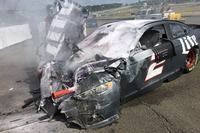 NASCAR Sprint Cup Photos - Wrecked car of Brad Keselowski, Team Penske Ford