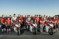 Leon Camier, Jules Cluzel and Lorenzo Zanetti, MV Agusta with the team