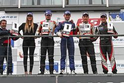 Podium: winner Matthieu Vaxiviere, SMP Racing, second place Tom Dillmann, AVF, third place Alfonso Celis Jr., AVF