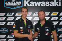 World Superbike Photos - Ondrej Jezek, Andrea Grillini, Grillini team manager