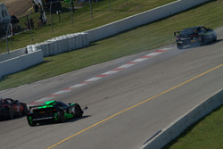 Contact between the #13 KTM X-Bow GT4 and #10 Chevrolet Camaro Z28