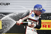 Porsche Supercup Photos - Podium: winner Matteo Cairoli celebrates with champagne