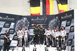 Podium: winners Dominik Baumann, Maximilian Bühk, Team HTP Motorsport, second place Frederic Vervisch, Laurens Vanthoor, Belgian Audi Club Team WRT, third place Enzo Ide, Christopher Mies, Belgian Audi Club Team WRT
