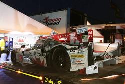 Crashed car of #60 Michael Shank Racing with Curb/Agajanian Ligier JS P2 Honda: John Pew, Oswaldo Negri, Olivier Pla