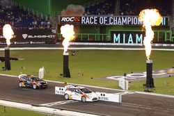 Nations cup winner Sebastian Vettel in a RX Supercar Lite crossed the finish line