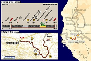 Dakar: The 2005 route