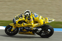 Rossi on top in practice day at Jerez