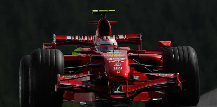 Raikkonen heads Ferrari front row for Belgian GP
