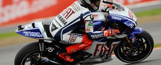 MotoGP Lorenzo holds off de Puniet for British GP pole