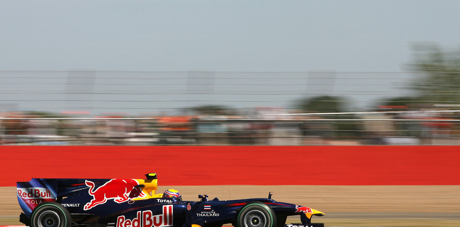 Webber, Vettel top Friday times at Silverstone
