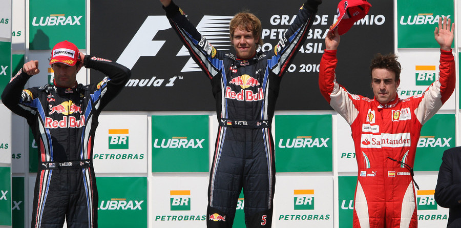 Vettel leads Webber across the line for Brazilian GP win