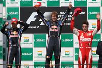 Vettel leads Webber across the line for Brazilian GP win