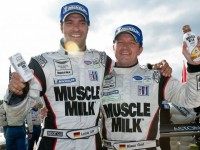 Muscle Milk AMR Celebrates ALMS Overall Win At Mosport