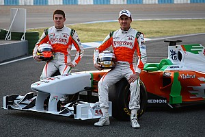 All three Force India drivers racing for 2012 seats