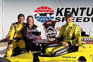 Ed Carpenter & Sara Fisher Racing get first series win