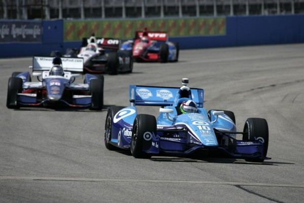 Dario Franchitti takes Iowa pole after final heat victory