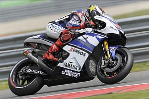MotoGP Qualifying report Lorenzo scores front row in difficult Assen qualifying