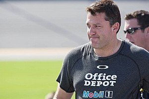NASCAR Sprint Cup Race report Tony Stewart proud of team's top-10 Indianapolis finish