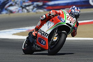 Ducati riders Rossi and Hayden focus on Indianapolis GP