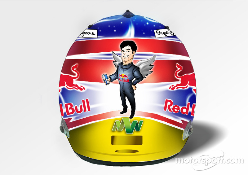 Mark Webber's special Singapore helmet design