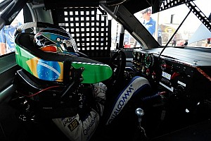 NASCAR Truck Race report Piquet saves fuel, takes first truck win at Michigan