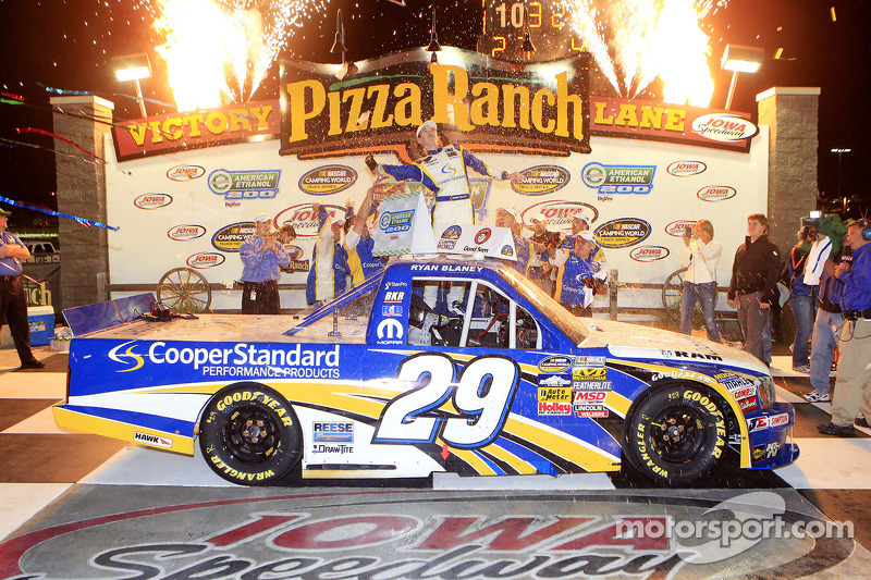 Ryan Blaney makes history at Iowa Speedway with maiden victory