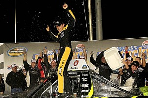 NASCAR Truck Race report Buescher wins again at Kentucky, fourth season win for Turner Chevrolet team