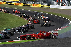 Japanese GP - Massa magnificent as Alonso is pushed off and out