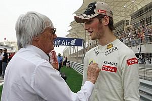 Ecclestone urges Lotus to test Grosjean's vision