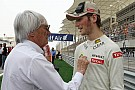 Ecclestone urges Lotus to test Grosjean's vision