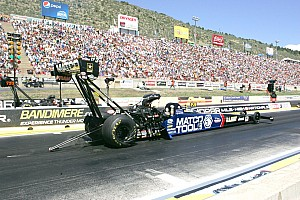 NHRA Qualifying report Tony Schumacher Top Fuel provisional pole at Las Vegas