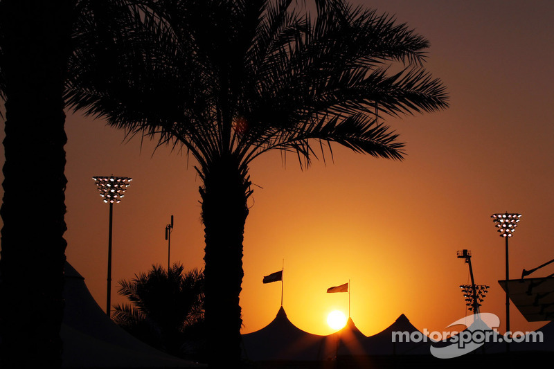 A sunset to wet anyone's appetite at Yas Marina Circuit
