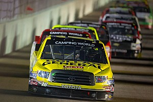 NASCAR Truck Race report Kyle Busch gets nudged at the finish line in Homestead 200
