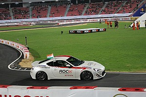 General Race report Chandhok and  Karthikeyan celebrate ROC Asia victory Karthikeyan in Bangkok