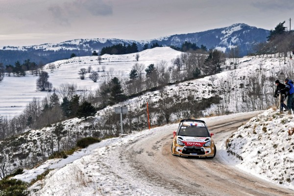Loeb grabs early lead in cold, snowy Rallye Monte Carlo