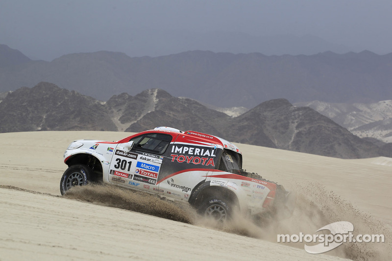De Villiers and Von Zitzewitz finish second in Dakar Rally