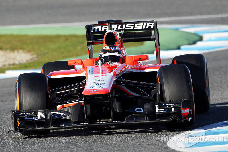 After new car release, Marussia started 2013 pre-season testing