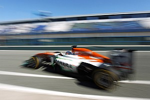 Force India's Di Resta and Rossiter shared Jerez testing duties on day three